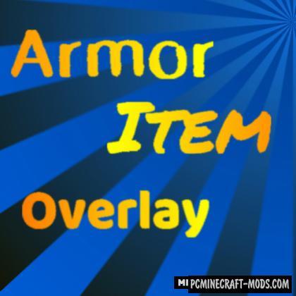 Armor Item Overlay - HUD Mod For Minecraft 1.16.5, 1.15.2