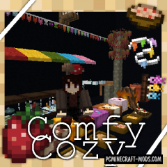 Comfy Cozy - Decor, Furniture Mod For MC 1.15.2, 1.12.2