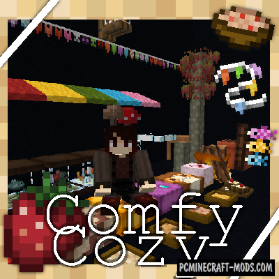 Comfy Cozy - Decor, Furniture Mod For MC 1.15.2, 1.12.2