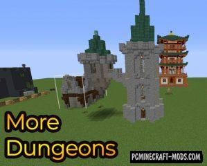 More Dungeons - Gen, Mobs Mod For Minecraft 1.14.4
