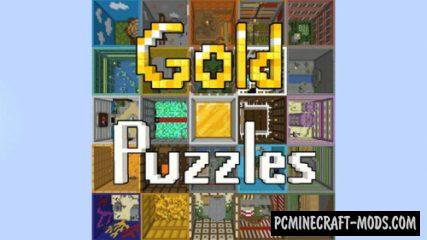 Gold Puzzles - Finding, Puzzle Map For Minecraft