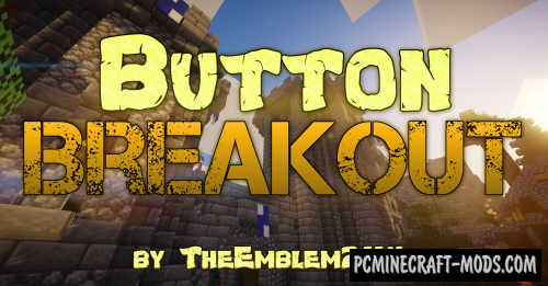 Button Breakout - Parkour Map For Minecraft