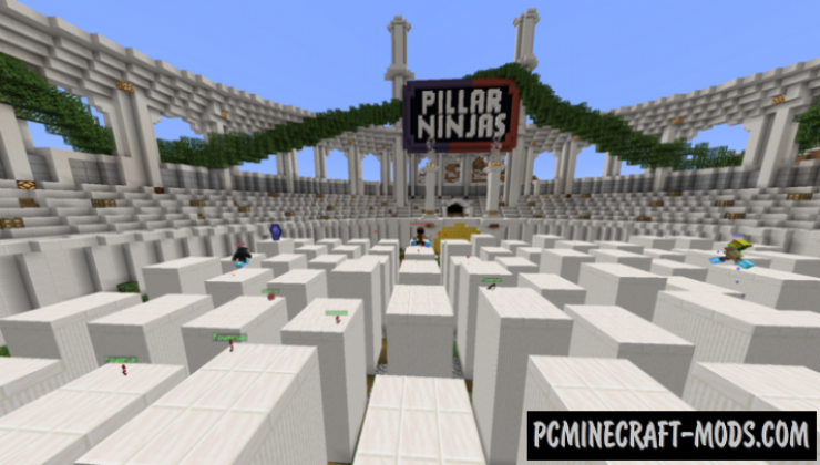 Pillar Ninjas - PvP, Minigame Map For Minecraft