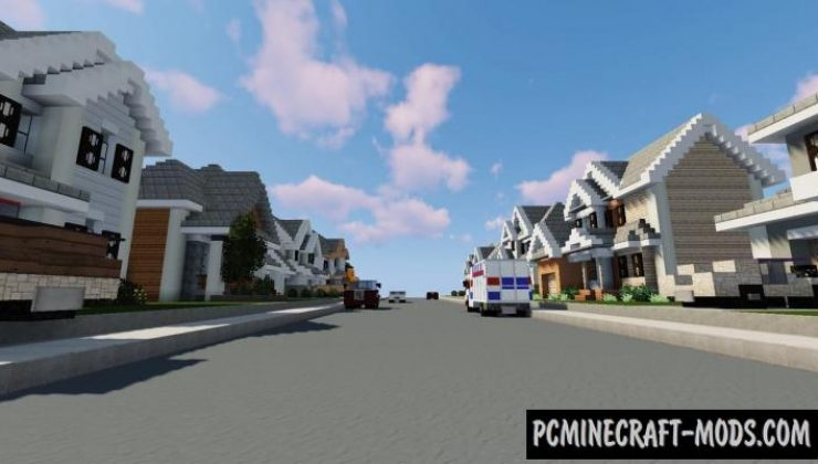 Small Neighborhood - Town Map For Minecraft