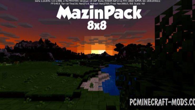 Mazin 8x Resource Pack For Minecraft 1.16.5, 1.15.2
