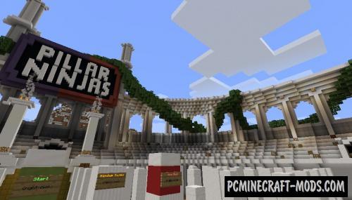 Pillar Ninjas - PvP, Minigame Map For Minecraft