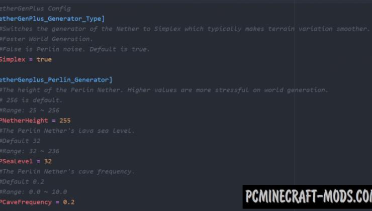NetherGen+ - Generation Tweak Mod For MC 1.15.2