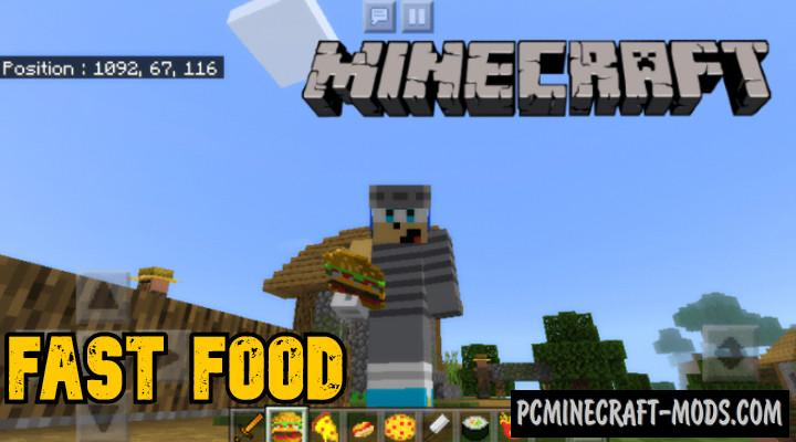 Fast-Foods Addon For Minecraft 1.16, 1.14 iOS/Android