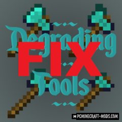 Degrading Tools 16x Resource Pack For MC 1.16.4, 1.15.2, 1.14.4
