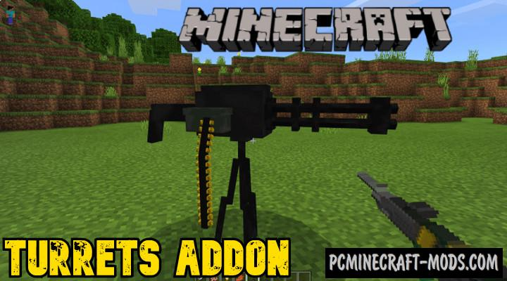 Turrets Addon For Minecraft PE 1.16, 1.14 iOS/Android