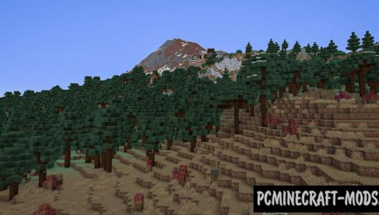 TerraForged - Gen, Biomes Mod For Minecraft 1.16.5, 1.16.4