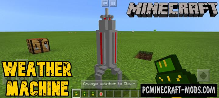 Weather Machine Addon For Minecraft Bedrock 1.16.220