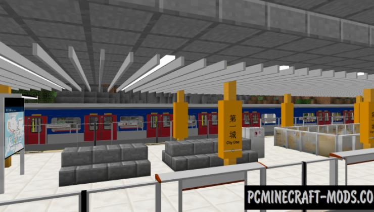 Minecraft Transit Railway - Mech, Decor Mod For MC 1.12.2