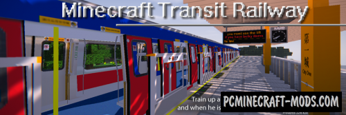 Minecraft Transit Railway - Mech, Decor Mod For 1.16.5, 1.12.2