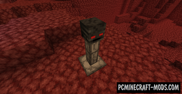 Wither Skeleton Totem - Block Mod For MC 1.16.5, 1.16.4