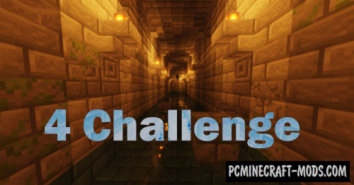 4 Challenges - Parkour Map For Minecraft