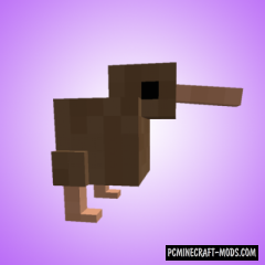 Cute Kiwi Birds - Creatures Mod For Minecraft 1.16.1, 1.15.2