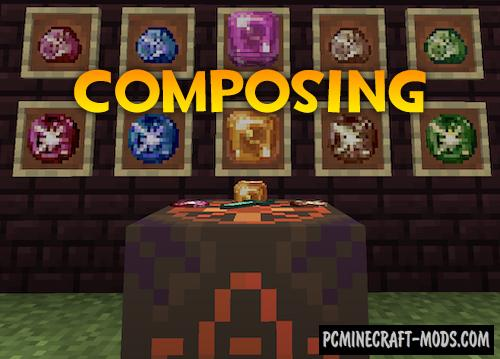 Composing - Mech, Magic Mod For Minecraft 1.15.2