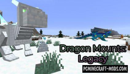 Dragon Mounts: Legacy - Creatures Mod For MC 1.15.2