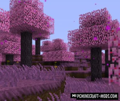 Cherry Blossom - Biome Mod For Minecraft 1.14.4