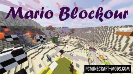 Mario Blockour - Parkour Map For Minecraft