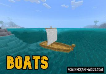 Boats Addon For Minecraft Bedrock 1.16.220 iOS/Android