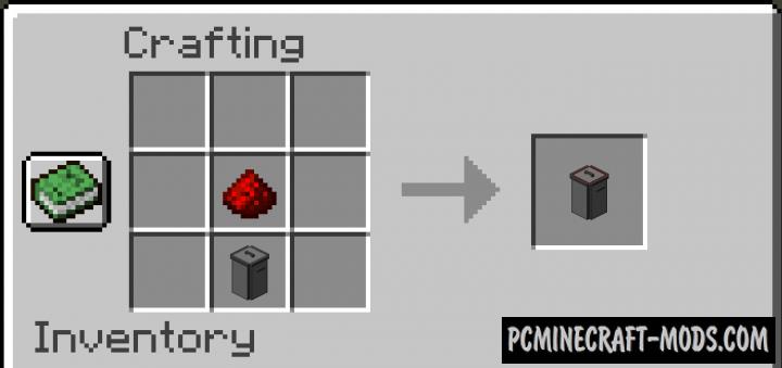 Trash - Redstone Block Mod For Minecraft 1.15.2