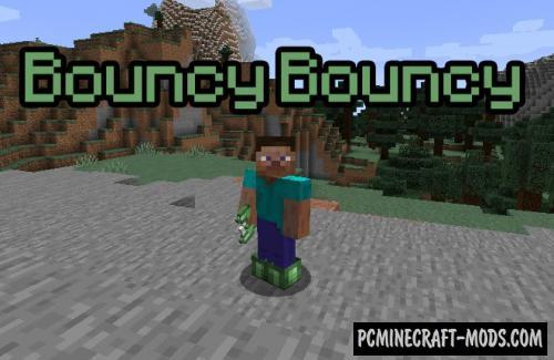 Bouncy Bouncy - Armor Mod For Minecraft 1.15.2, 1.14.4