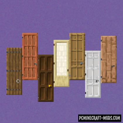 Dramatic Doors - Decor Mod Minecraft 1.16.1, 1.15.2, 1.14.4
