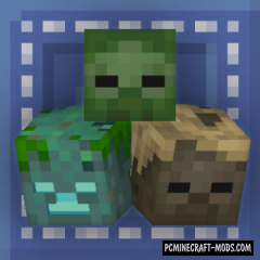Just Another Head - Decor, New Blocks Mod For MC 1.16.2, 1.15.2