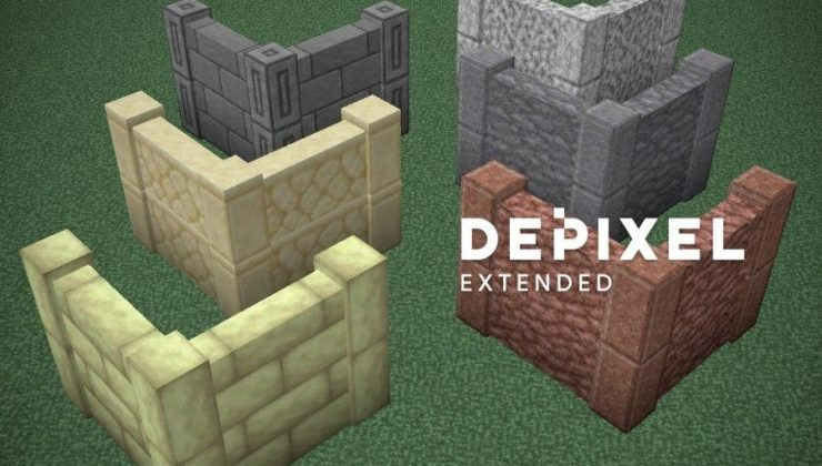 Depixel 32x, 3D, PvP Texture Pack For Minecraft 1.17, 1.16.5