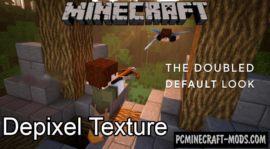 Depixel 32x, 3D, PvP Texture Pack For Minecraft 1.16.4, 1.16.3