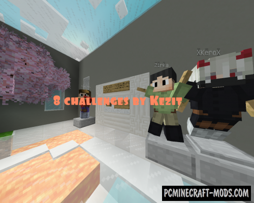8 challenges by Kezit - Mini Games Map For MC