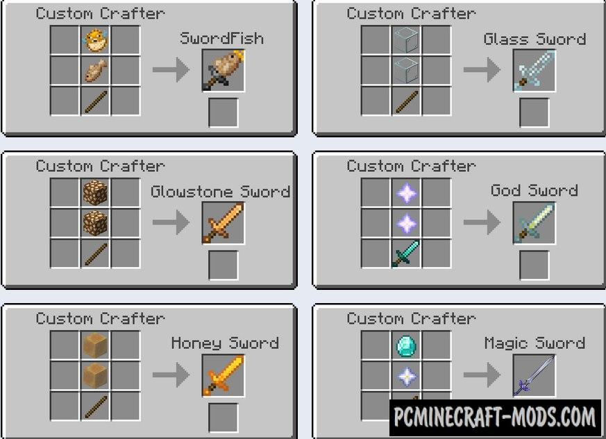 Moar Swords Data Pack For Minecraft 1.16.4, 1.16.3
