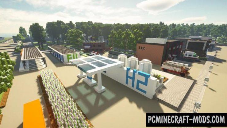 The Blue-house Korea - City Map For Minecraft