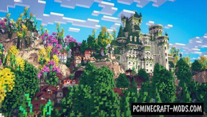 Green City - Castle Map For Minecraft