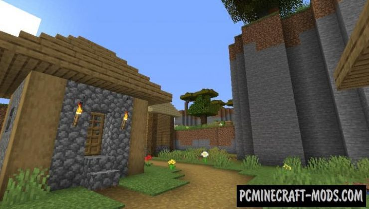 Parkour on Sky Island Map For Minecraft