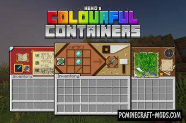 Colourful Containers GUI Texture Pack MC 1.16.1, 1.15.2, 1.14.4