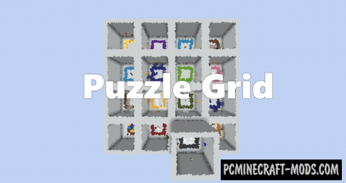 Puzzle Grid Map For Minecraft