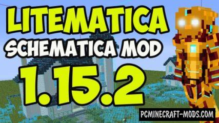 Litematica - GUI, Tool Mod For Minecraft 1.17.1, 1.16.5, 1.16.4