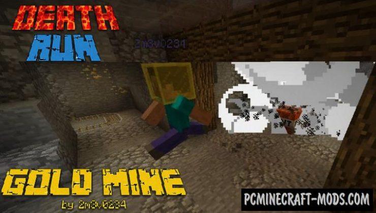 DeathRun Gold Mine - Minigame Map For Minecraft