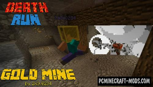 DeathRun Gold Mine - Minigame Map For Minecraft