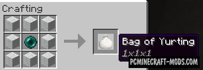 Bag of Yurting - Compact Tool Mod For MC 1.16.5