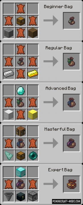 Builder's Bag - Magic, Items Mod For Minecraft 1.12.2