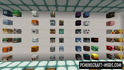 All Mob Heads Data Pack For Minecraft 1.16.5, 1.16.4, 1.15.2