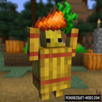 Straw Golem Reborn - Mob Mod For Minecraft 1.16.5, 1.14.4
