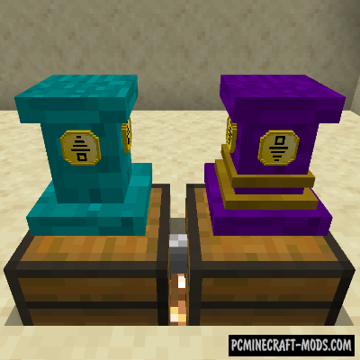 Pedestals - Tech, Decor, Cosmetic Mod For Minecraft 1.16.5