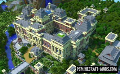 Brick Baroque Palace - City Map For Minecraft