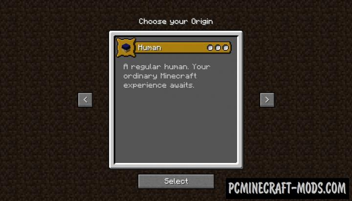 Origins - Survival Buffs Mod For Minecraft 1.16.4, 1.16.3