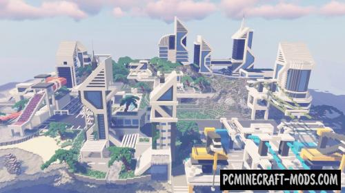 Large Futuristic City Map For Minecraft